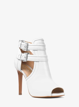 MICHAEL Michael Kors Blaze Leather Open-Toe Bootie