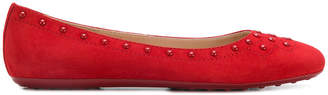 Tod's stud detail ballerina shoes