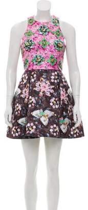 Mary Katrantzou Sleeveless Printed Dress Brown Sleeveless Printed Dress