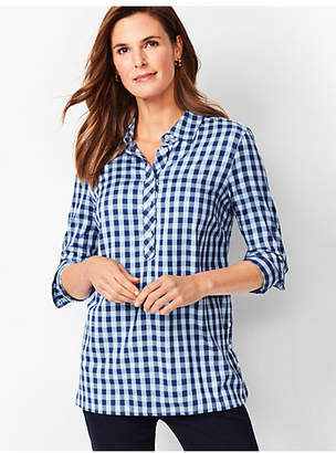 Talbots Gingham Popover Tunic