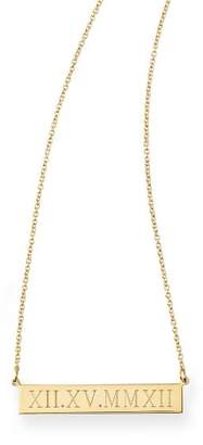 Sarah Chloe Mark And Graham Leigh ID Necklace, Roman Numerals