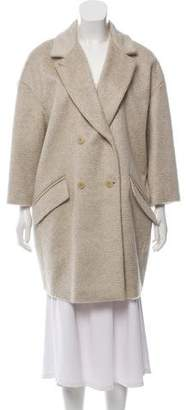 St. Emile Double-Breasted Virgin Wool-Blend Coat w/ Tags