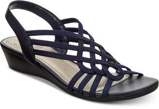 Impo Roma Stretch Slingback Wedge Sandals Women's Shoes