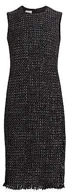 Akris Punto Women's Sleeveless Tweed Sheath Dress