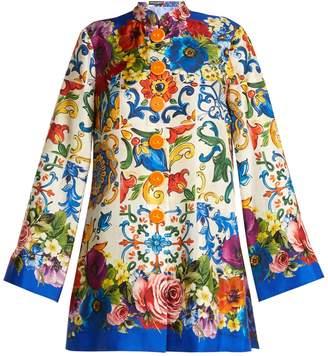 Dolce & Gabbana Majolica-print silk-twill tunic