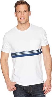 Lucky Brand Men's Crew Neck TEE Shirt with Chest Stripe Detail