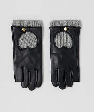 Asos DESIGN leather & knit gloves with touch screen