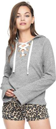Juicy Couture French Terry Lace Up Hoodie