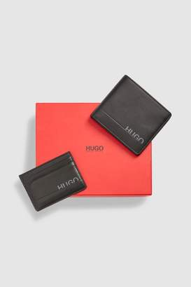 255f503ce1 Next Mens HUGO Black Wallet And Card Holder Set