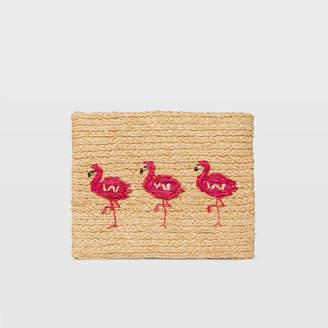Club Monaco Hat Attack Flamingo Clutch