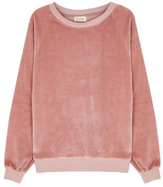 American Vintage Isacboy Rose Velour Sweatshirt
