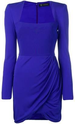 Versace draped mini dress
