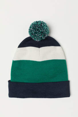 H&M Fine-knit Hat - Green