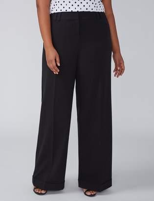 Allie Tailored Stretch Wide Leg Pant - Cuffed