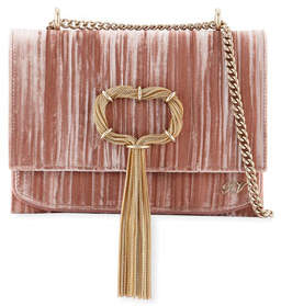 Roger Vivier Club Chain Velvet Tassel Evening Clutch Bag