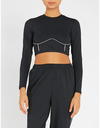 Good American Electric Feel woven cropped top