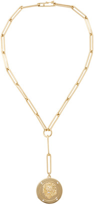 Foundrae Strength Large Medallion on Extended Clip Choker Chain