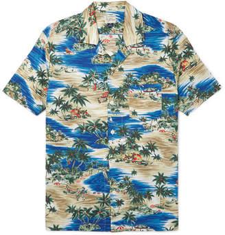 J.Crew Camp-Collar Printed Slub Cotton Shirt