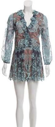 51a39409da2 Lace Long Sleeve Romper - ShopStyle