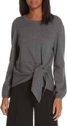 Milly Tie Front Balloon Sleeve Sweater