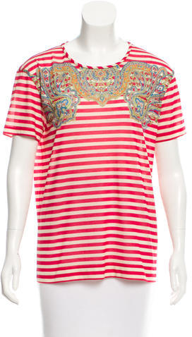 Carven Carven Striped Short Sleeve T-Shirt