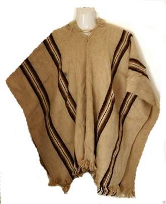 Terrapin Trading Fair Trade Mens Alpaca Wool Woollen Poncho Cape from Bolivia