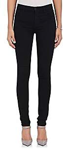 J Brand Women's Maria High-Rise Skinny Jeans-Black