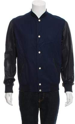 Christian Dior Leather-Trimmed Twill Jacket
