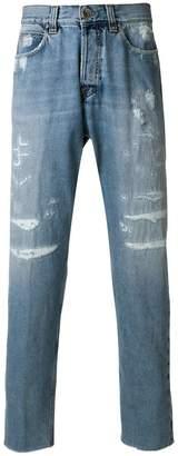 Eleventy slim distressed jeans
