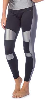 Pl Movement By Pink Lotus Women's PL Movement by Pink Lotus Active Shiny Inset Yoga Leggings