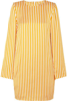 Maggie Marilyn - I'm Coming Home Striped Satin-twill Mini Dress - Yellow