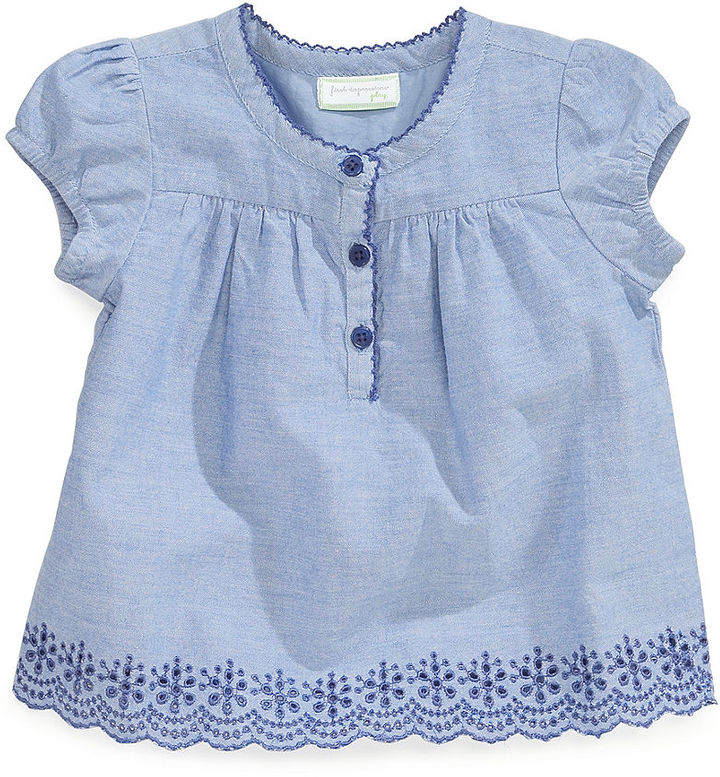 First Impressions Baby Girls' Chambray Top