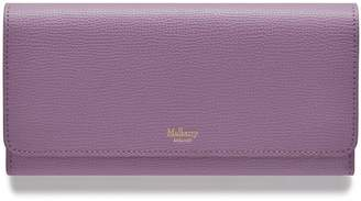 Mulberry Continental Wallet Lilac Cross Grain Leather