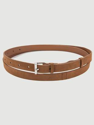 Frame Double Wrap Suede Belt