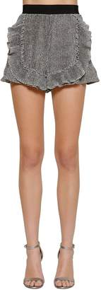 Alberta Ferretti High Waist Ruffled Lurex Shorts