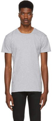 Naked & Famous Denim Denim Grey Ringspun Cotton T-Shirt