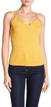 Know One Cares Ribbed Ruffle Tank
