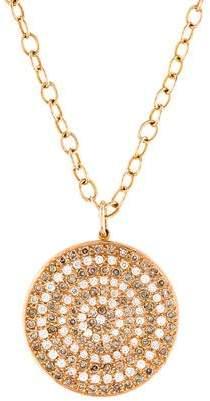 Ileana Makri 18K Diamond Pavé Disc Pendant Necklace