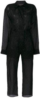 Alexandre Vauthier embellished cropped jumpsuit