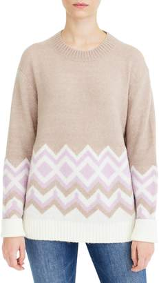 J.Crew Geometric Fair Isle Crewneck Sweater