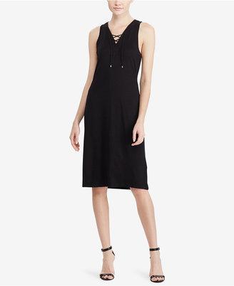 Lauren Ralph Lauren Lace-Up French Terry Dress $115 thestylecure.com