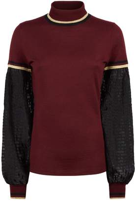Amanda Wakeley Sheer Sleeve Sweater