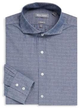 Michael Bastian Printed Linen Dress Shirt