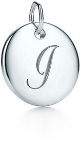 """Tiffany & Co. Notes Letter """"I"""" disc charm"""