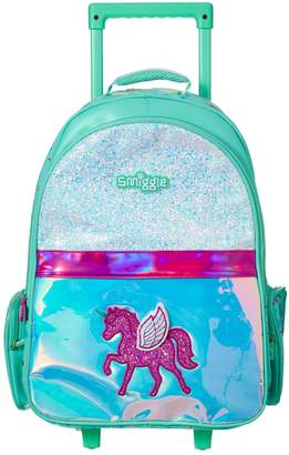 Smiggle Kid's Believe Backpack Trolley with Light Up Wheels