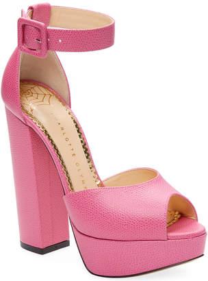 Charlotte Olympia Eugenie Leather Platform Sandal