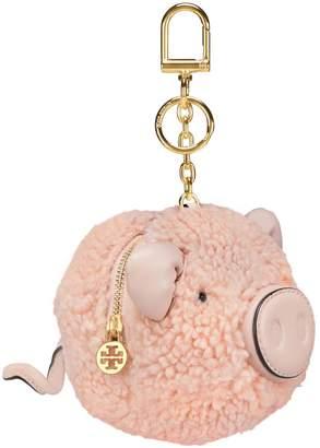 Tory Burch PEGGY THE PIG POM-POM KEY RING