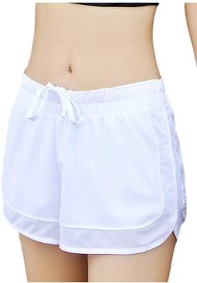 Sevozimda Womens Elastic Waist Drawstring Work Out Yoga Pants Athletic Hot Shorts XL