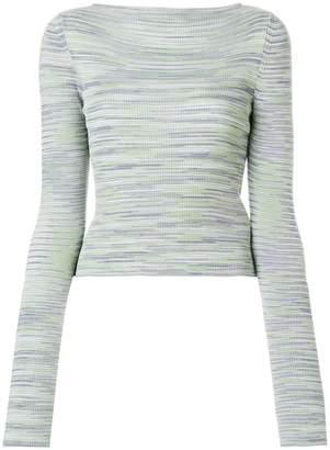 M Missoni striped rib knit sweater