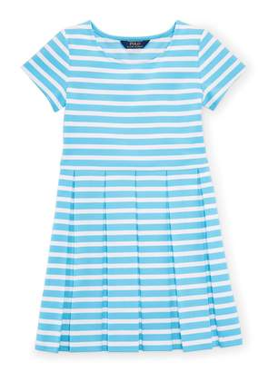 Ralph Lauren Polo Girl's Striped Fit-And-Flare Dress (Medium)
